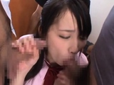 Luxurious nipponese Mao Kurata with curvy tits gets rammed
