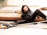 fluent fetish anal actions with latex and bdsm