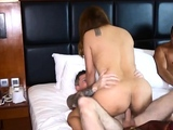 Cheating Thai wife loves a good anal threesome fucking