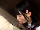 Great close up in japanese teen blowjob pov